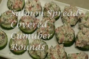 Gluten Free Recipes – Holiday Salmon Spread Covered Cucumber Rounds from Kimberly's Kitchen