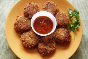 Indian Vegetable Cutlet, a delicious appetizer