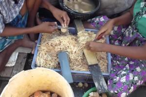 Traditional cooking in Myanmar / Burma