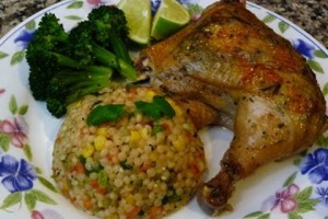 Drunken Chicken and Mexican Style Couscous Recipe for Valentine's Dinner How to