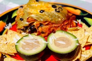 Dutch Oven Stacked Enchiladas