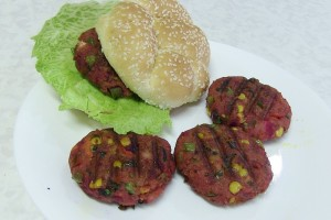 Homemade Vegetable Masala Burger –  Video Recipe by Bhavna