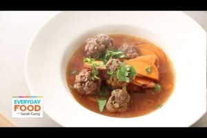 Moroccan Meatball Soup with Sweet Potato | Everyday Food with Sarah Carey