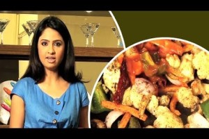 Stir fried veggie on rice | cooking recipes indian vegetarian |