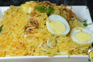 Street Food Egg Biryani Fried Rice – By VahChef @ VahRehVah.com