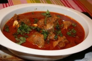 Indian cooking: Chilly mutton masala