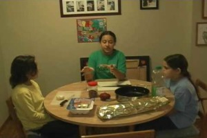 Sarkar Family, USA Cooking Italian Food Spaghetti November 2009