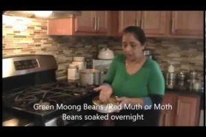 Using a pressure cooker.Indian Vegetarian recipes cooking 1. By Pratibha Jani.wmv